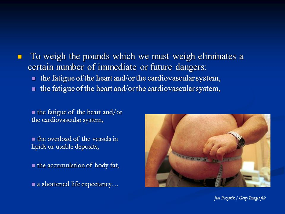 To weigh the pounds which we must weigh eliminates a certain number of immediate or future dangers: