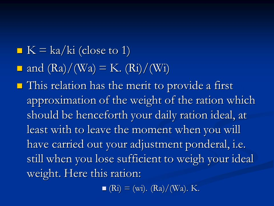 and (Ra)/(Wa) = K. (Ri)/(Wi)