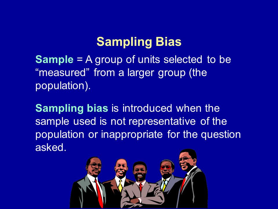 Sampling Bias Sample = A group of units selected to be measured from a larger group (the population).