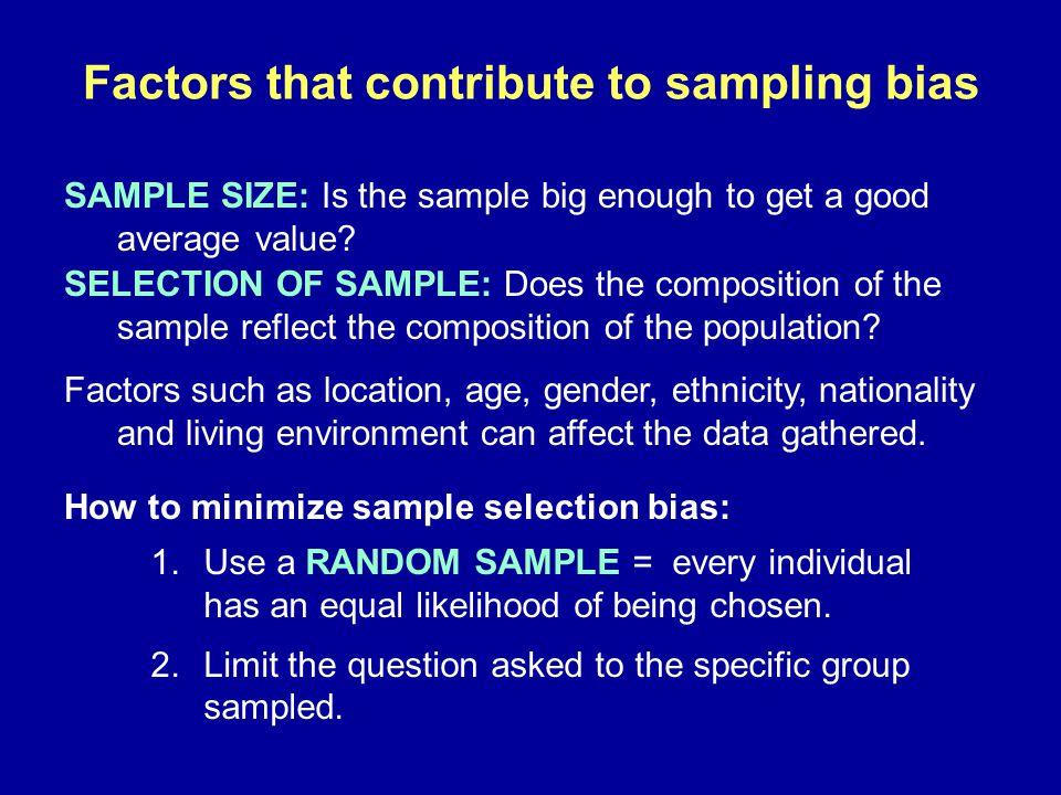 Factors that contribute to sampling bias