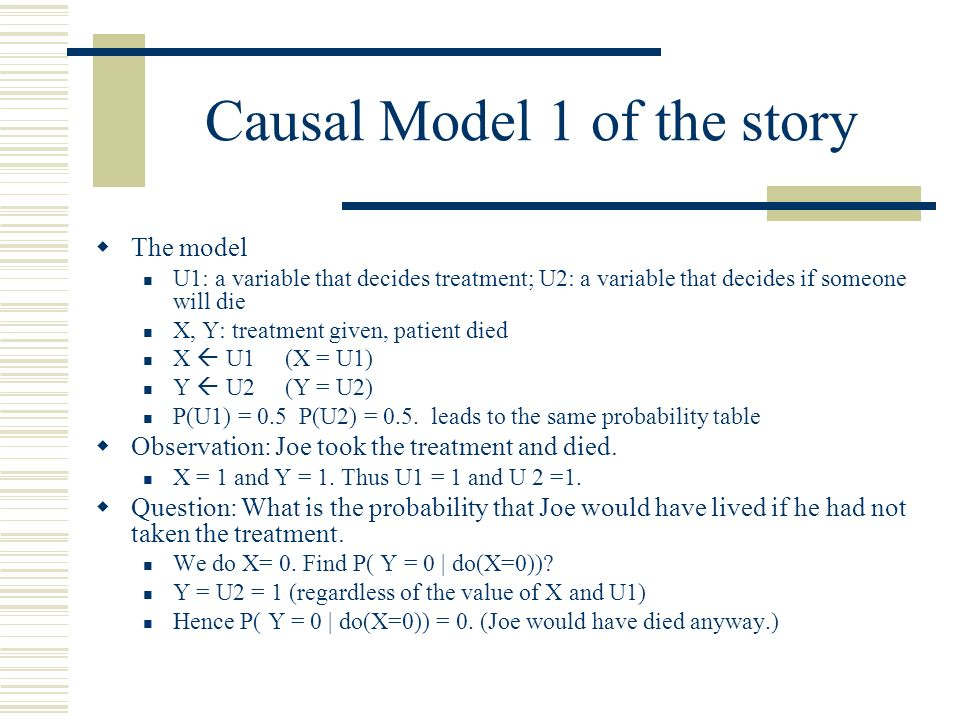 Causal Model 1 of the story