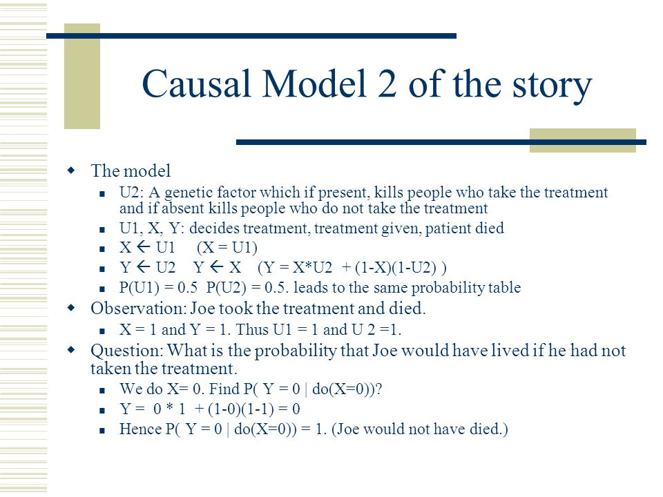 Causal Model 2 of the story