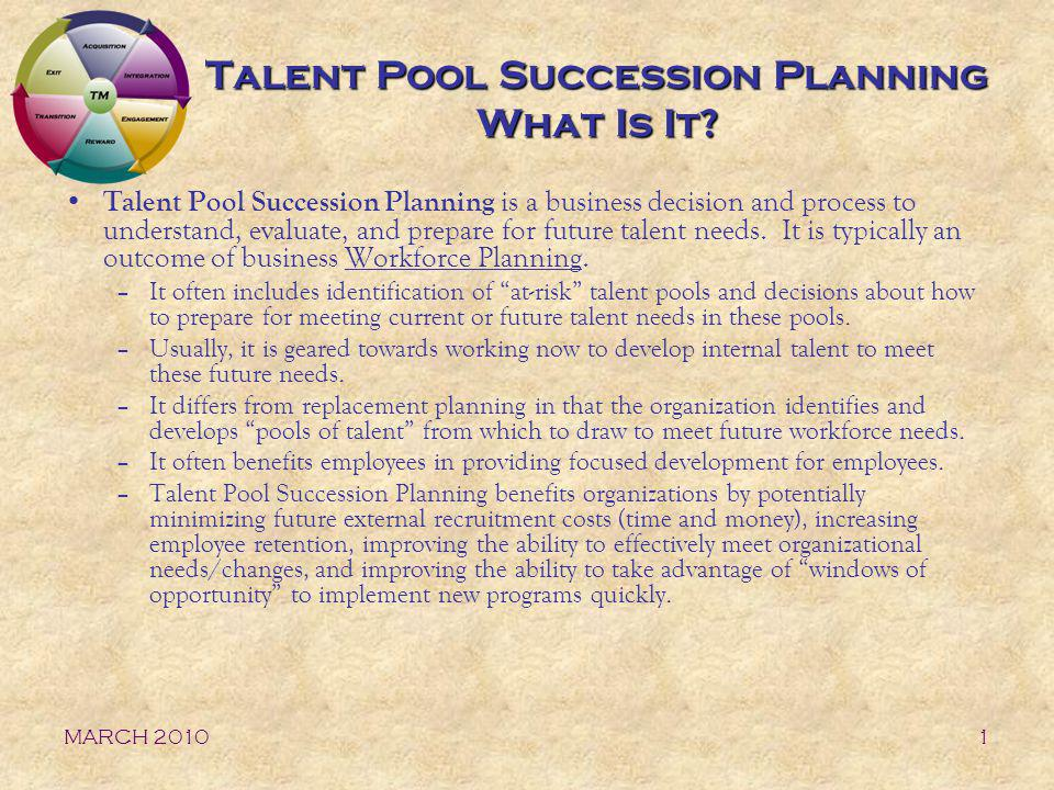 Talent Pool Succession Planning What Is It
