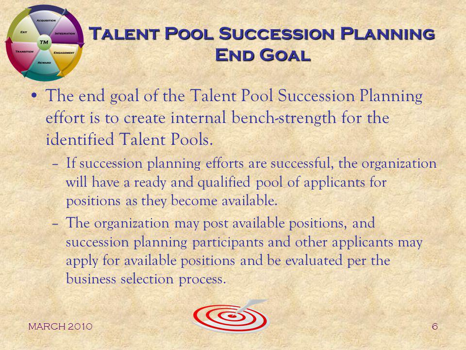 Talent Pool Succession Planning End Goal