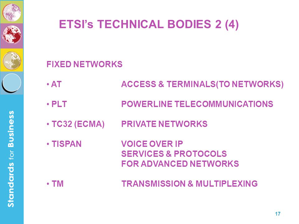 ETSI's TECHNICAL BODIES 2 (4)
