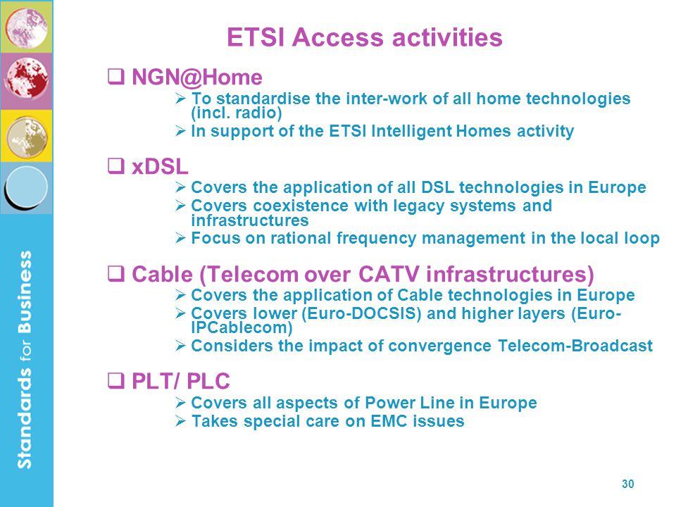 ETSI Access activities