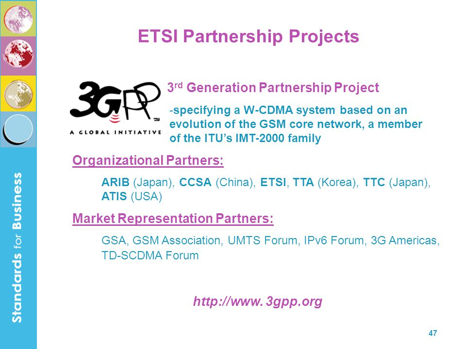 ETSI Partnership Projects
