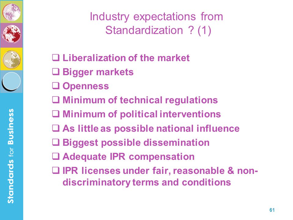 Industry expectations from Standardization (1)