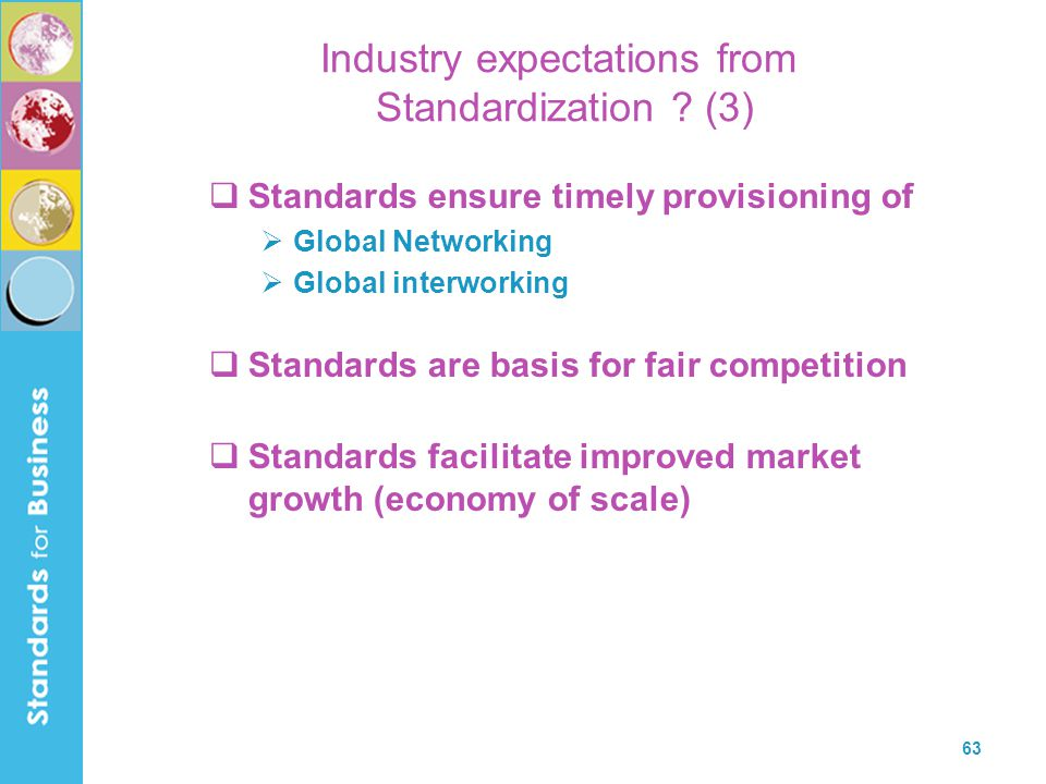 Industry expectations from Standardization (3)