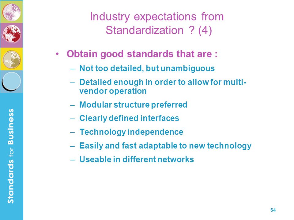 Industry expectations from Standardization (4)