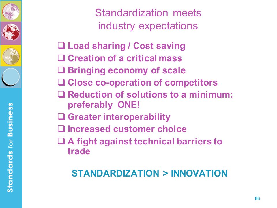 Standardization meets industry expectations
