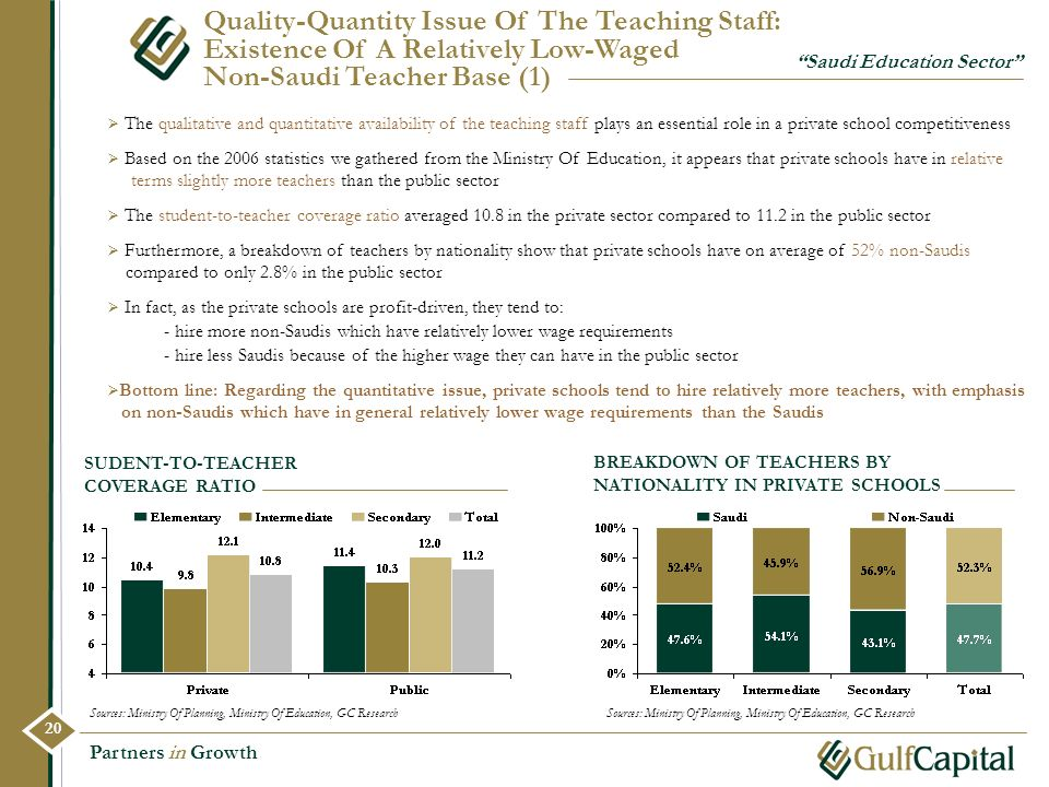 Quality-Quantity Issue Of The Teaching Staff: Existence Of A Relatively Low-Waged Non-Saudi Teacher Base (1)