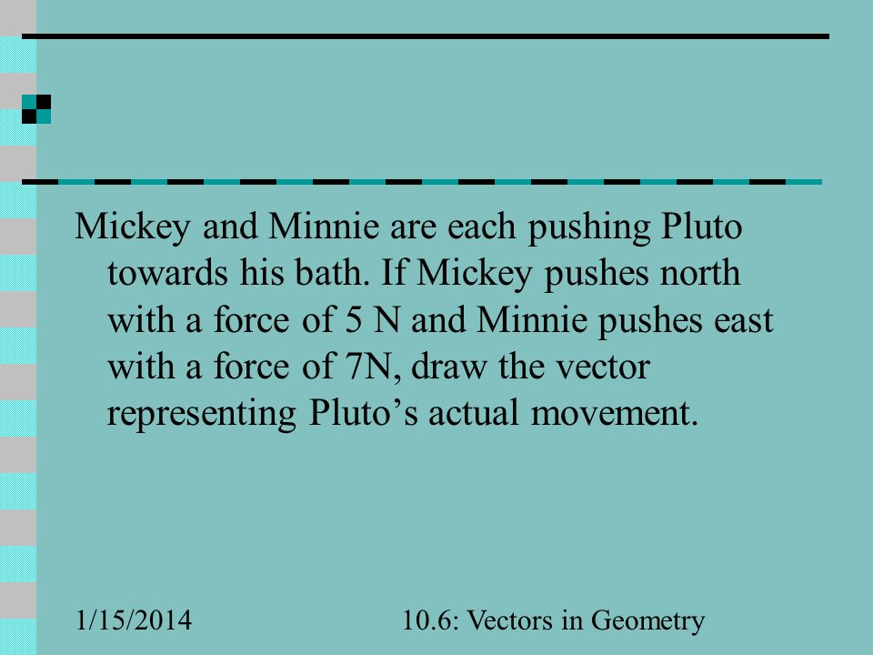 Mickey and Minnie are each pushing Pluto towards his bath