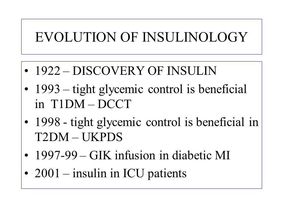EVOLUTION OF INSULINOLOGY