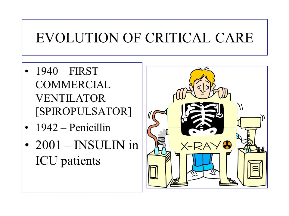 EVOLUTION OF CRITICAL CARE