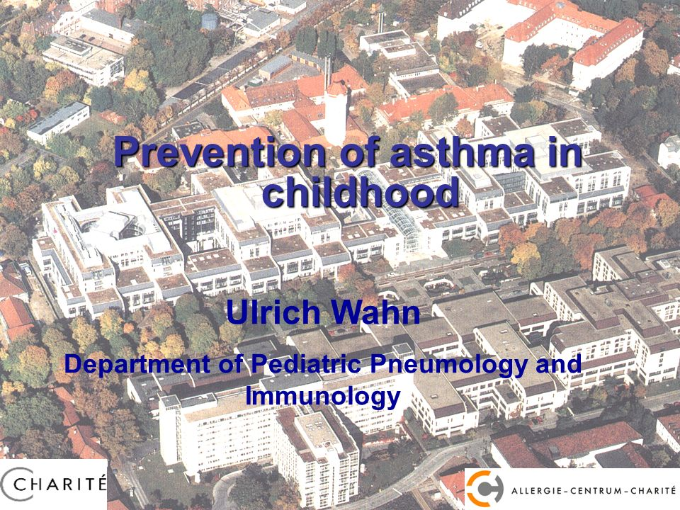 Prevention of asthma in childhood