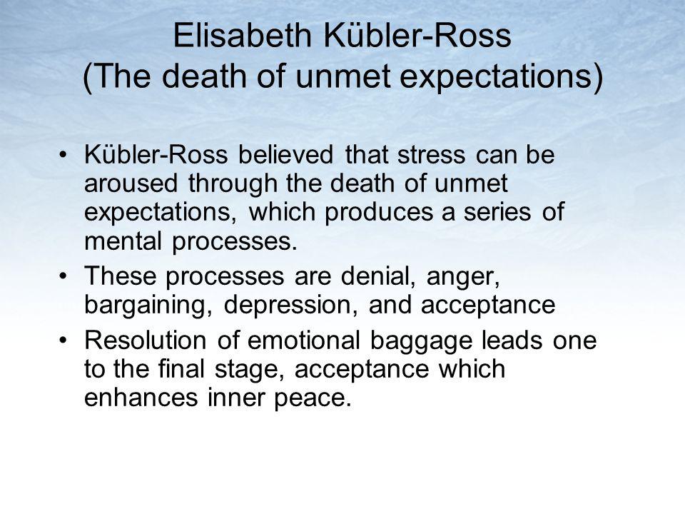 Elisabeth Kübler-Ross (The death of unmet expectations)