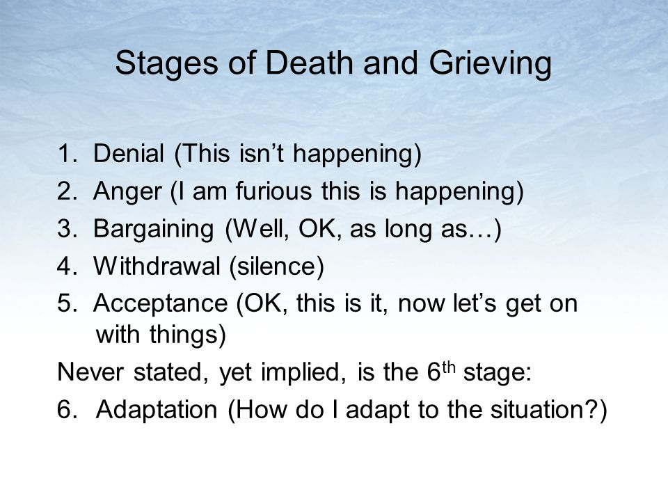 Stages of Death and Grieving