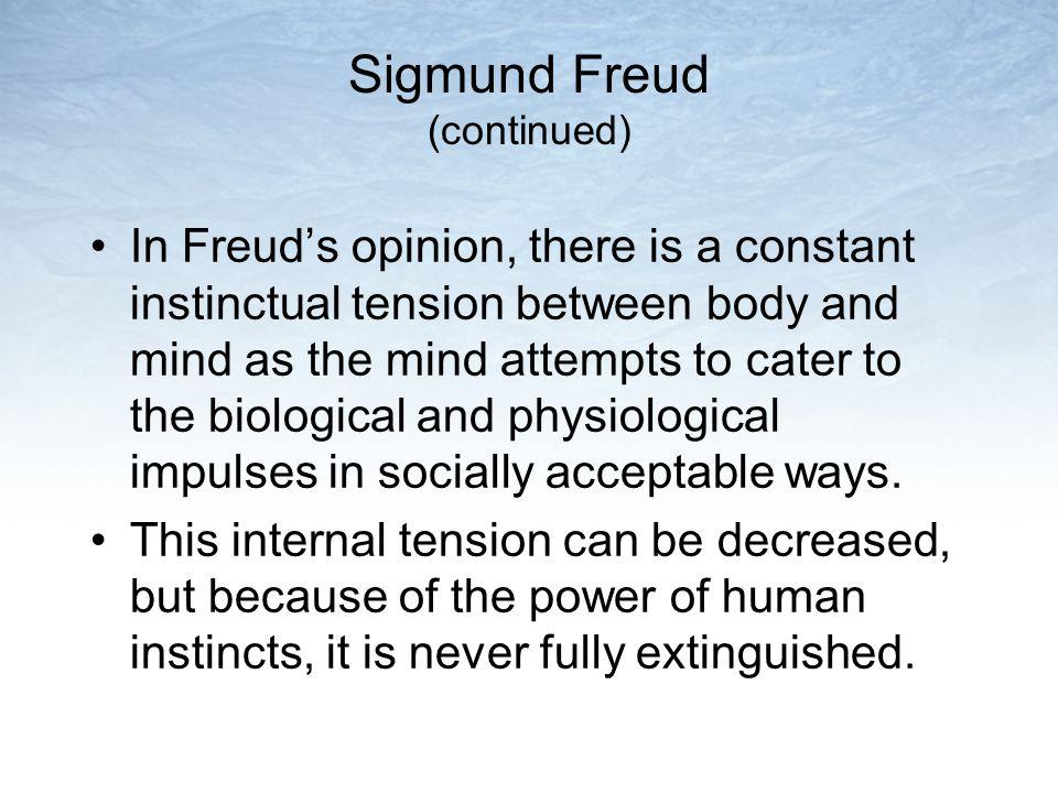 Sigmund Freud (continued)