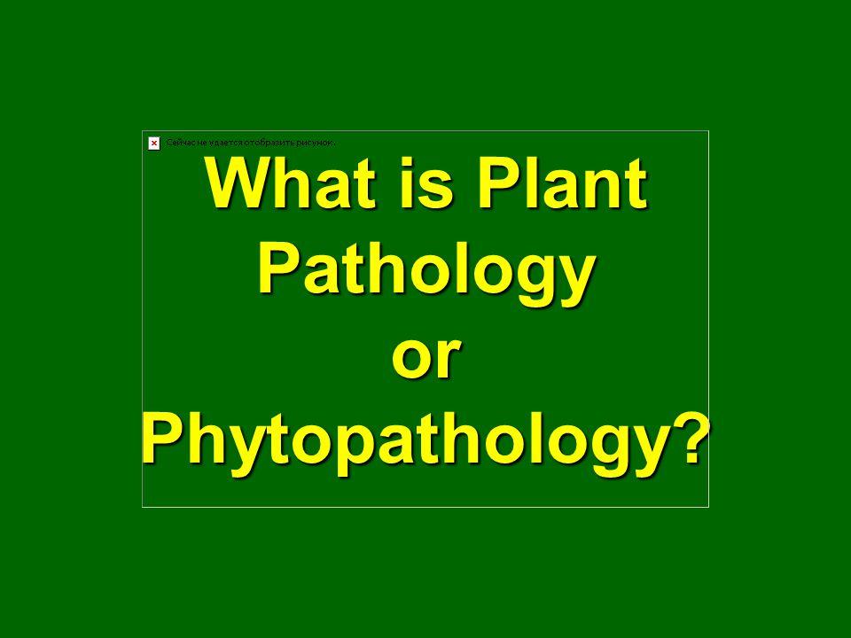 What is Plant Pathology or Phytopathology