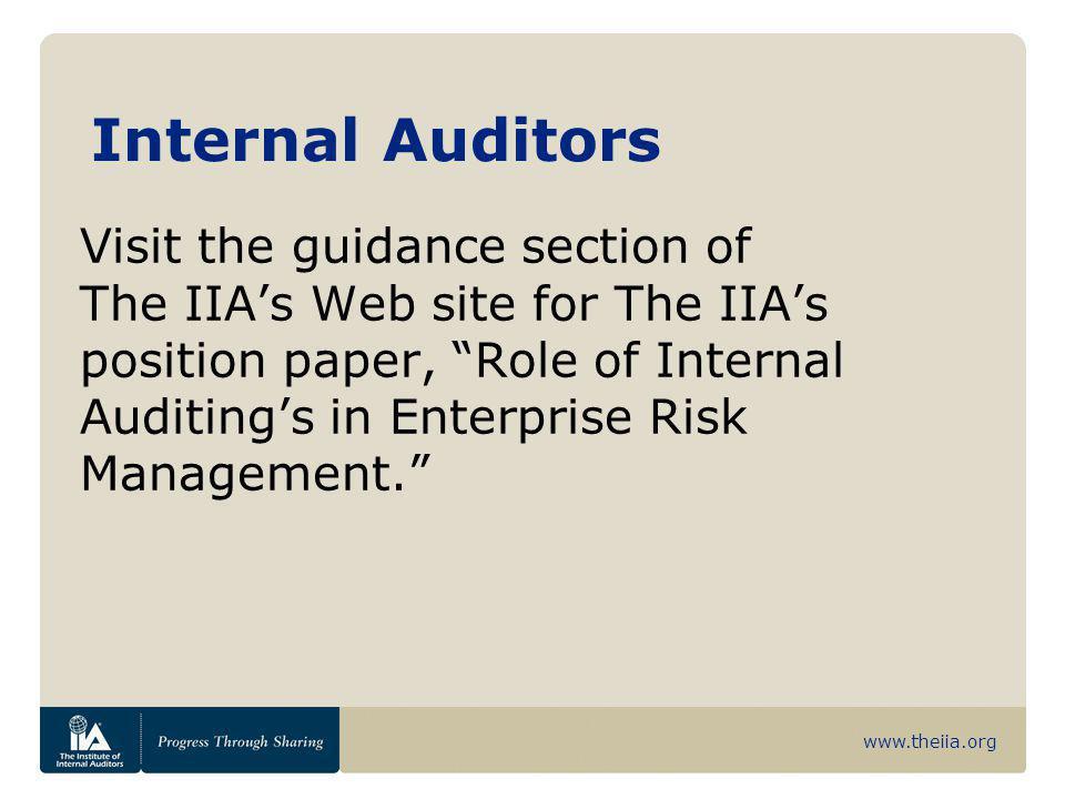 Internal Auditors