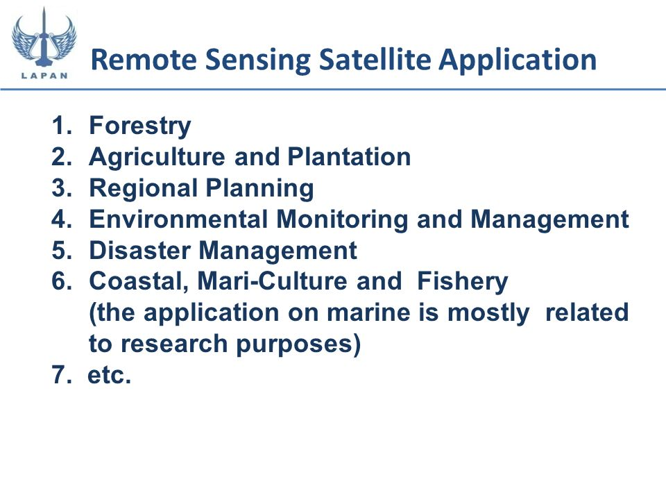 Remote Sensing Satellite Application