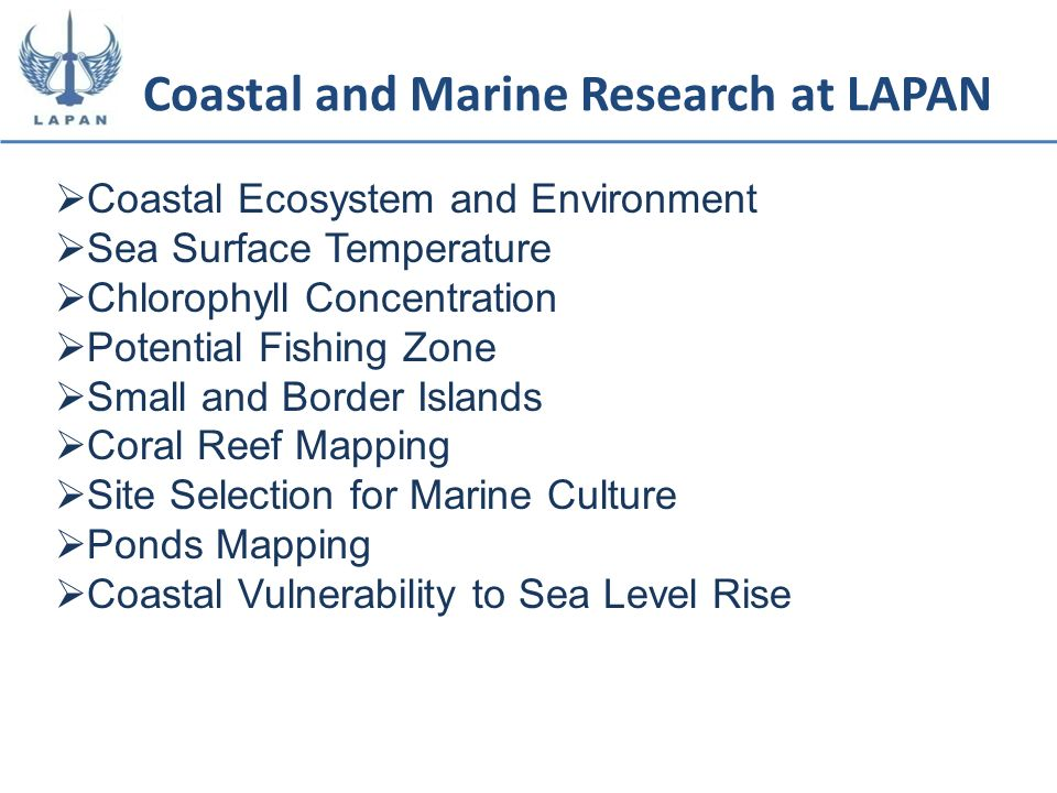 Coastal and Marine Research at LAPAN
