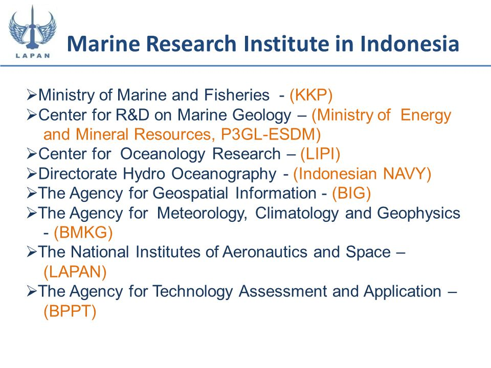 Marine Research Institute in Indonesia