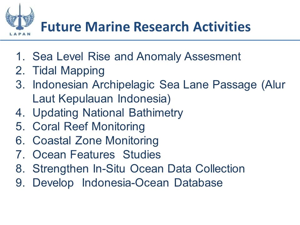 Future Marine Research Activities