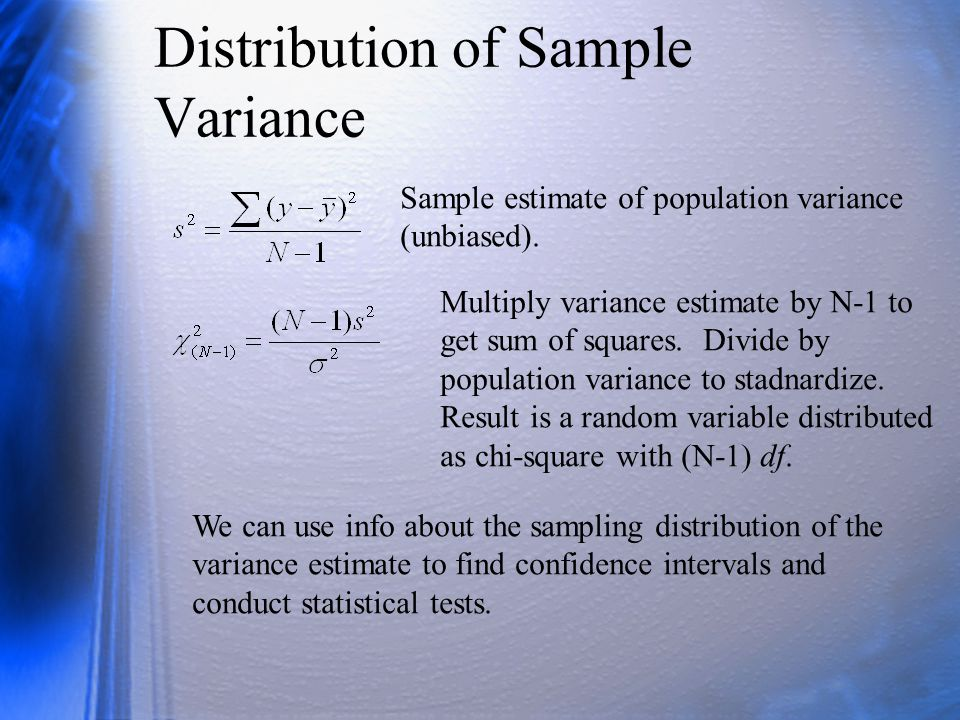 Distribution of Sample Variance