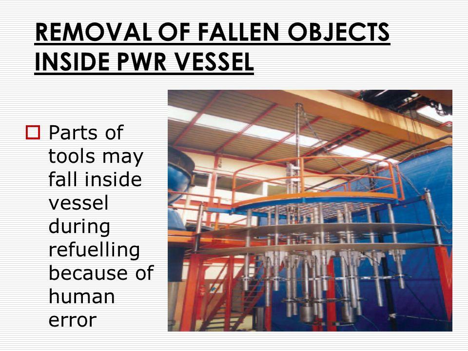 REMOVAL OF FALLEN OBJECTS INSIDE PWR VESSEL