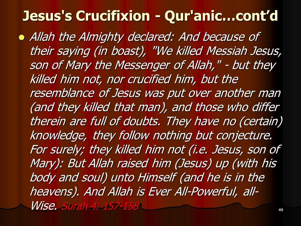 Jesus s Crucifixion - Qur anic…cont'd