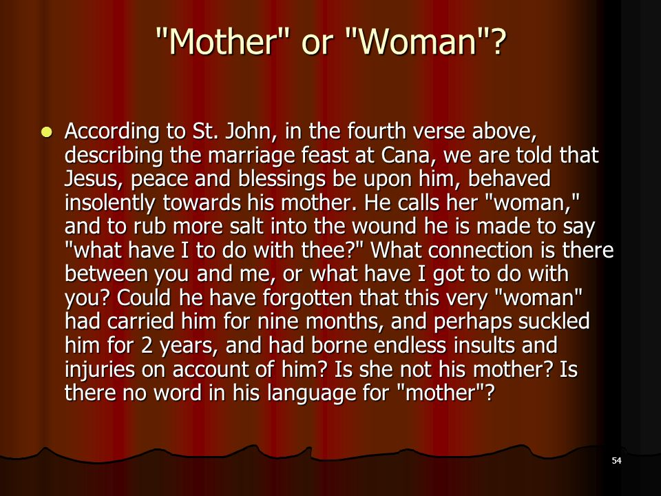 Mother or Woman