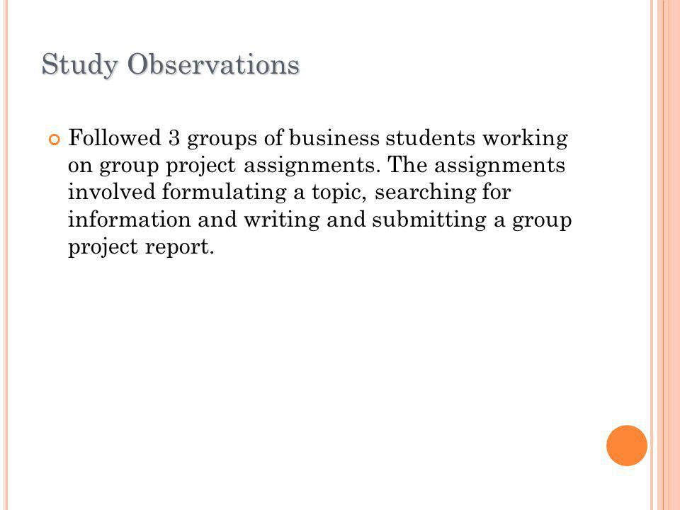 Study Observations