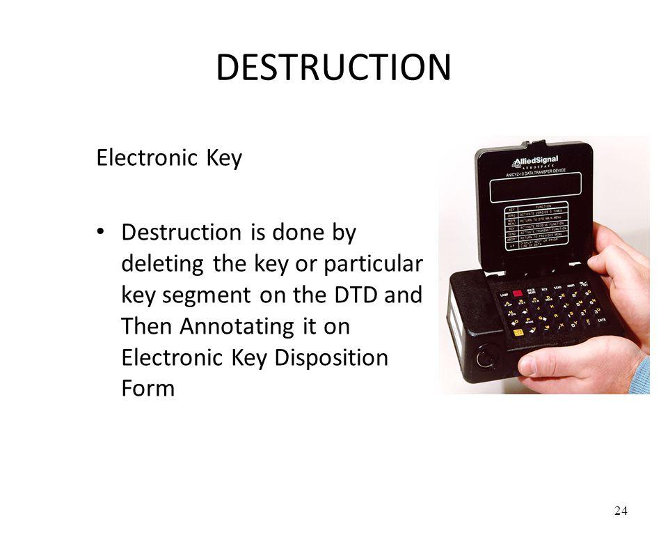 DESTRUCTION Electronic Key
