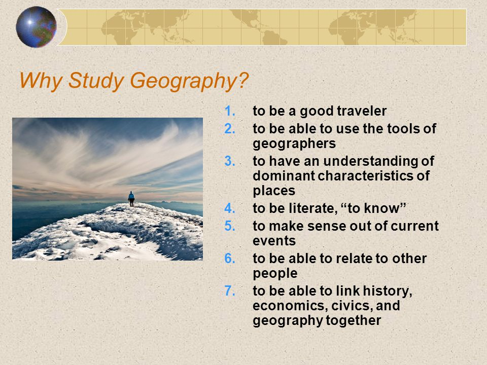 Why Study Geography to be a good traveler