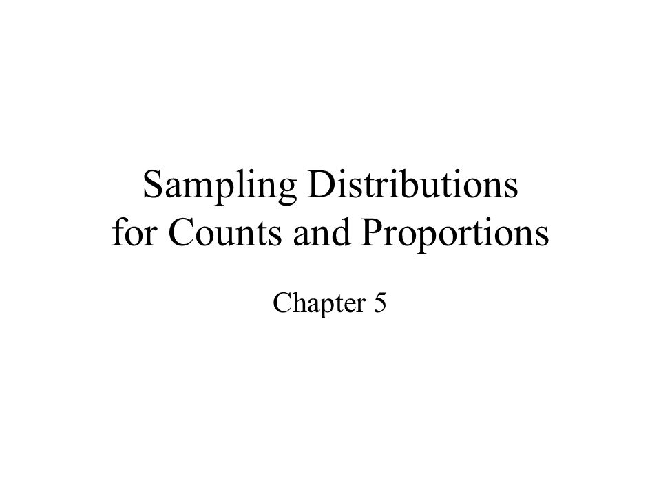 Sampling Distributions for Counts and Proportions