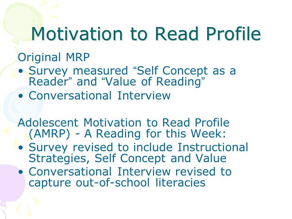 Motivation to Read Profile