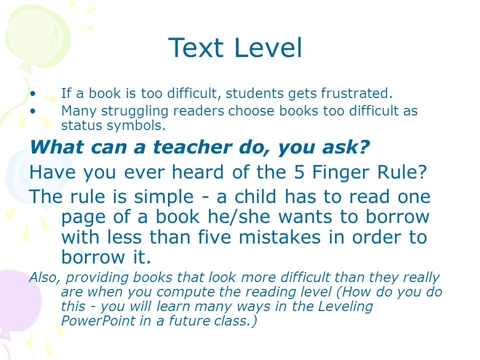Text Level What can a teacher do, you ask