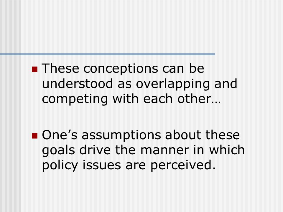 These conceptions can be understood as overlapping and competing with each other…