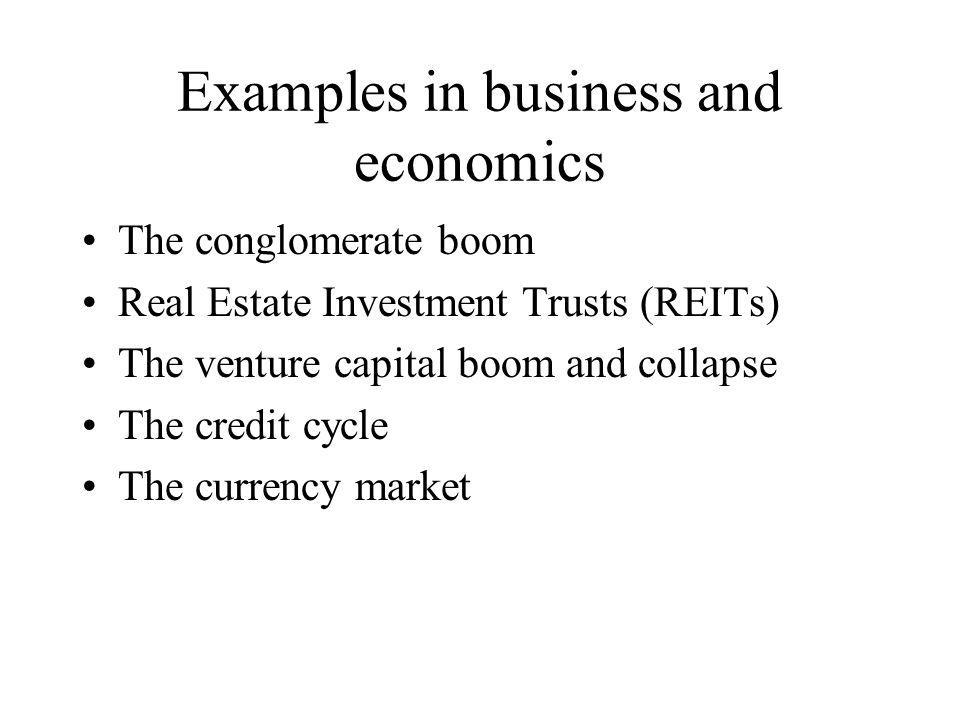 Examples in business and economics