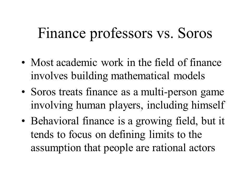 Finance professors vs. Soros