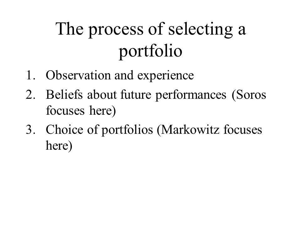 The process of selecting a portfolio