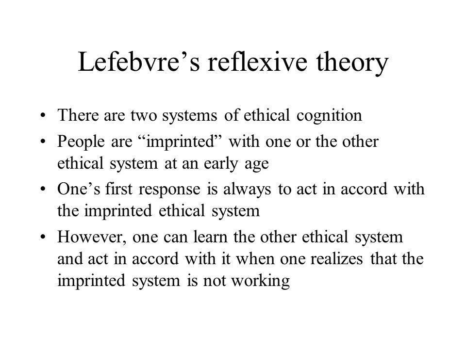 Lefebvre's reflexive theory