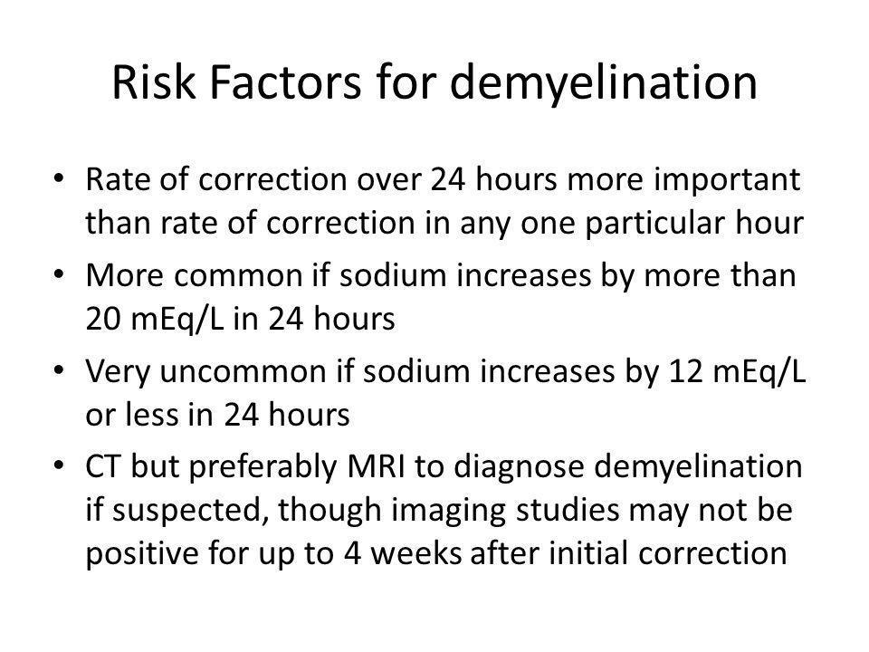 Risk Factors for demyelination