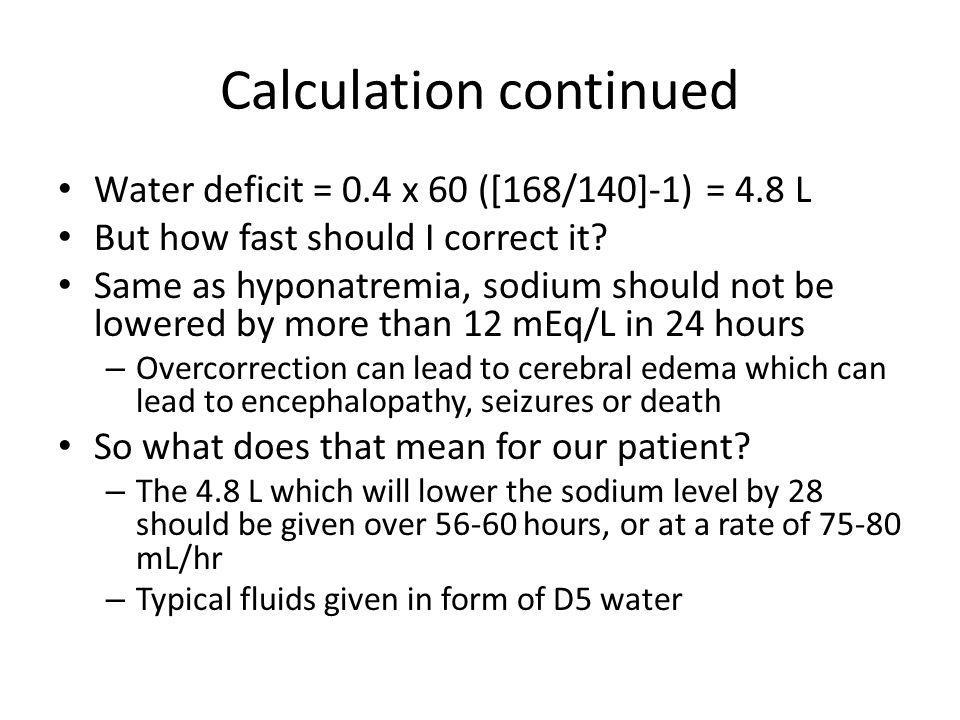 Calculation continued