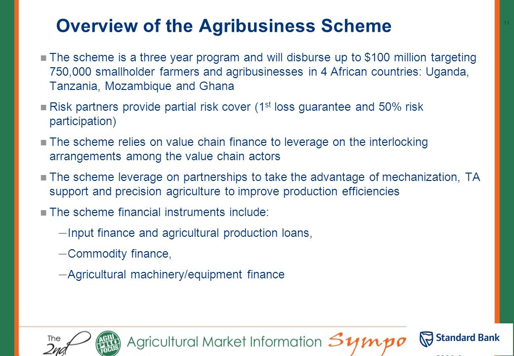 Overview of the Agribusiness Scheme