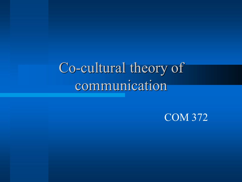 Co-cultural theory of communication