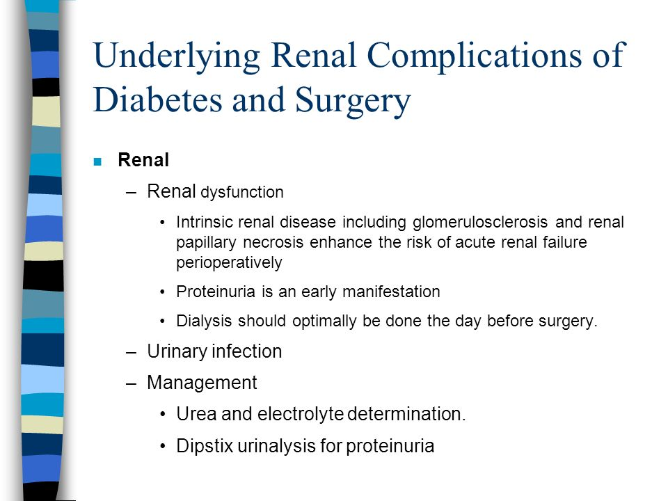 Underlying Renal Complications of Diabetes and Surgery