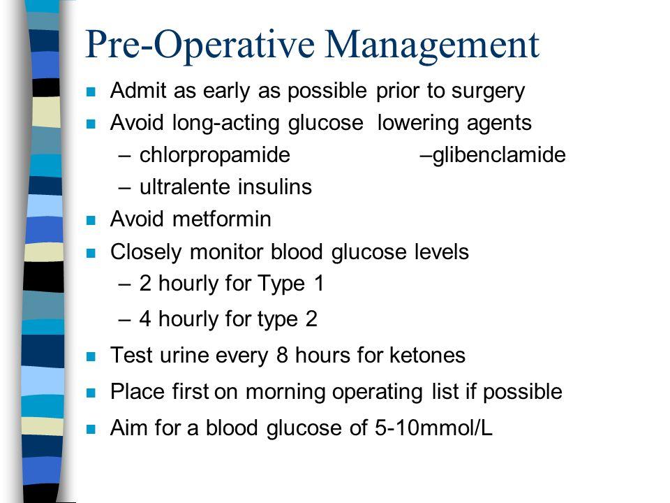 Pre-Operative Management